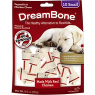 DreamBone Small Chicken Chew Bone Dog Treats, 10 count