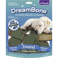 DreamBone Small Dental Chew Bones Dog Treats, 6 count