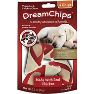 DreamBone DreamChips Chicken Chews Dog Treats, 4 count