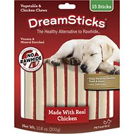 DreamBone DreamSticks Chicken Chews Dog Treats, 15 count