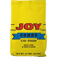 Joy Combo Meat, Fish & Milk Flavor Dry Cat Food, 15-lb bag