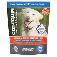 Nutramax Cosequin Maximum Strength (DS) Plus MSM Soft Chews Joint Health Dog Supplement, 60 count