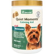NaturVet Quiet Moments Calming Aid Dog Soft Chews, 180 count