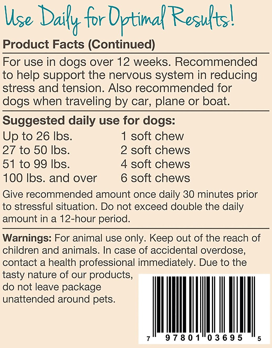 Quiet Moments By The Fireplace: NaturVet Quiet Moments Calming Aid Dog Soft Chews, 180
