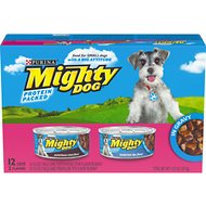 Mighty Dog Porterhouse Steak Flavor & Tenderloin Tips Flavor in Gravy Variety Pack Canned Dog Food, 5.5-oz, case of 12