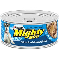 Mighty Dog Thick-Sliced Chicken Dinner in Gravy Canned Dog Food, 5.5-oz, case of 24