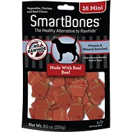SmartBones Mini Beef Chew Bones Dog Treats, 16 count