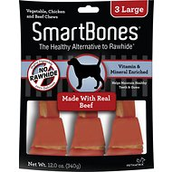 SmartBones Large Beef Chew Bones Dog Treats, 3 count