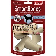 SmartBones Small Butcher's Cut Pork Flavor Chews Dog Treats, 4 count