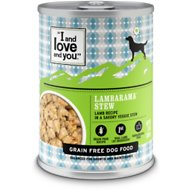 I and Love and You Lambarama Stew Grain-Free Canned Dog Food, 13-oz, case of 12