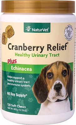 NaturVet Cranberry Relief Plus Echinacea Soft Chews for Dogs