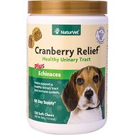 NaturVet Cranberry Relief Plus Echinacea Soft Chews for Dogs, 120 count