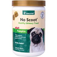 NaturVet No Scoot Dog Soft Chews, 120-count