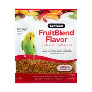ZuPreem FruitBlend with Natural Fruit Flavors Small Bird Food, 2-lb bag