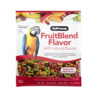 ZuPreem FruitBlend with Natural Fruit Flavors Large Bird Food, 2-lb bag