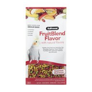 ZuPreem FruitBlend with Natural Fruit Flavors Medium Bird Food, 14-oz bag