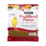 ZuPreem FruitBlend with Natural Fruit Flavors Extra Small Bird Food, 2-lb bag