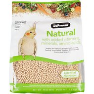 ZuPreem Natural with Vitamins, Minerals & Amino Acids Medium Bird Food, 2.5-lb bag