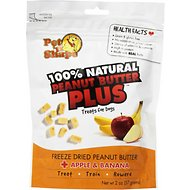 Pet 'n Shape Peanut Butter PLUS Apple & Banana Freeze-Dried Dog Treats, 2-oz bag, 3 pack