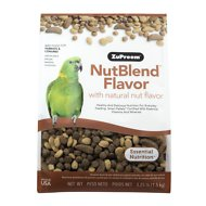 ZuPreem NutBlend with Natural Nut Flavor Parrot & Conure Bird Food, 3.25-lb bag