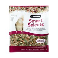 ZuPreem Smart Selects Cockatiel & Lovebird Bird Food, 2.5-lb bag