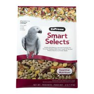 ZuPreem Smart Selects Parrot & Conure Bird Food, 4-lb bag