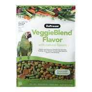 ZuPreem VeggieBlend with Natural Veggie Flavor Parrot & Conure Bird Food, 3.25-lb bag