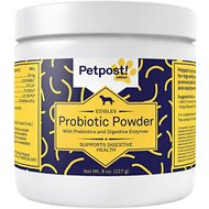Petpost Probiotic Powder with Prebiotics & Digestive Enzymes for Dogs, 8-oz bottle