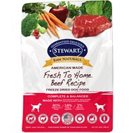 Stewart Raw Naturals Beef Recipe Grain-Free Freeze-Dried Dog Food, 24-oz bag