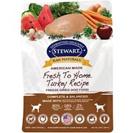 Stewart Raw Naturals Turkey Recipe Grain-Free Freeze-Dried Dog Food, 24-oz bag
