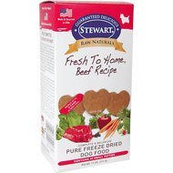 Stewart Raw Naturals Beef Recipe Patties Grain-Free Freeze-Dried Dog Food, Small, 32 count