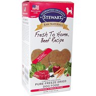 Stewart Raw Naturals Beef Recipe Patties Grain-Free Freeze-Dried Dog Food, Medium, 16 count