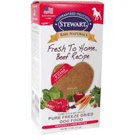 Stewart Raw Naturals Beef Recipe Patties Grain-Free Freeze-Dried Dog Food, Large, 8 count