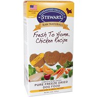 Stewart Raw Naturals Chicken Recipe Patties Grain-Free Freeze-Dried Dog Food, Small, 32 count