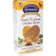 Stewart Raw Naturals Chicken Recipe Patties Grain-Free Freeze-Dried Dog Food, Large, 8 count