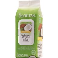 TropiClean Hypo Allergenic Deodorizing Dogs Wipes, 100 count