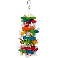 Caitec Paradise Knots N Blocks Bird Toy, Medium