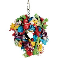 Caitec Paradise Cotton Snuggle Ring Bird Toy, Small