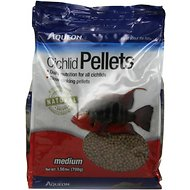 Aqueon Medium Cichlid Pellet Fish Food, 25-oz bag