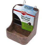 Kaytee Hay-N-Food Bin with Quick Locks Small Animal Feeder, 7-inch