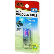 Zilla Mini Day Blue Halogen Bulb for Reptile Terrariums, 50-watt