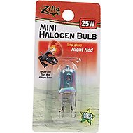 Zilla Mini Night Red Halogen Bulb for Reptile Terrariums, 25-watt
