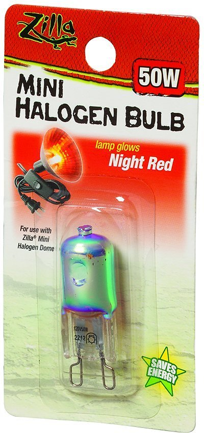 Zilla Mini Night Red Halogen Bulb For Reptile Terrariums