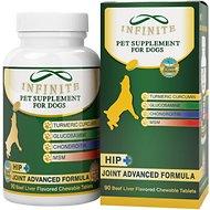 Infinite Hip & Joint Advanced Formula Beef Liver Flavor Dog Supplement, 90 count