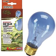 Zilla Day Blue Light Incandescent Reptile Bulb, 75-watt