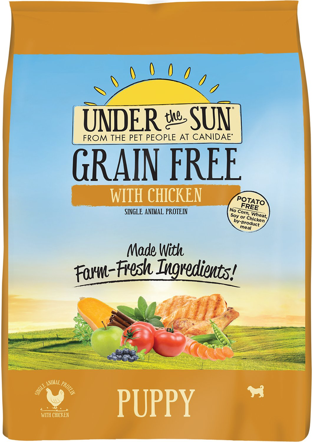 under the sun grain free lamb recipe adult dry dog food 25 lb bag chewycom