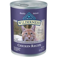 Blue Buffalo Wilderness Chicken Grain-Free Canned Cat Food, 12.5-oz, case of 12
