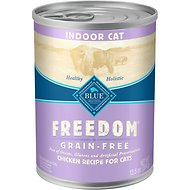 Blue Buffalo Freedom Indoor Adult Chicken Recipe Grain-Free Canned Cat Food, 12.5-oz, case of 12