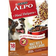 ALPO Meal Helpers Roast Beef & Chicken Flavors Dog Food Mixer, 4-oz pouch, case of 18