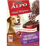 ALPO Meal Helpers Porterhouse & Prime Rib Flavors Dog Food Mixer, 4-oz pouch, case of 18